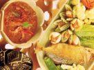 น้ำพริกกุ้งเสียบ ปลาทูทอด