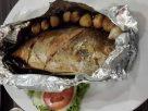 ปลาสำลีนึ่งกระเทียมโทน