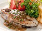 สเต็กปลาอินทรีย์พริกไทยอ่อน